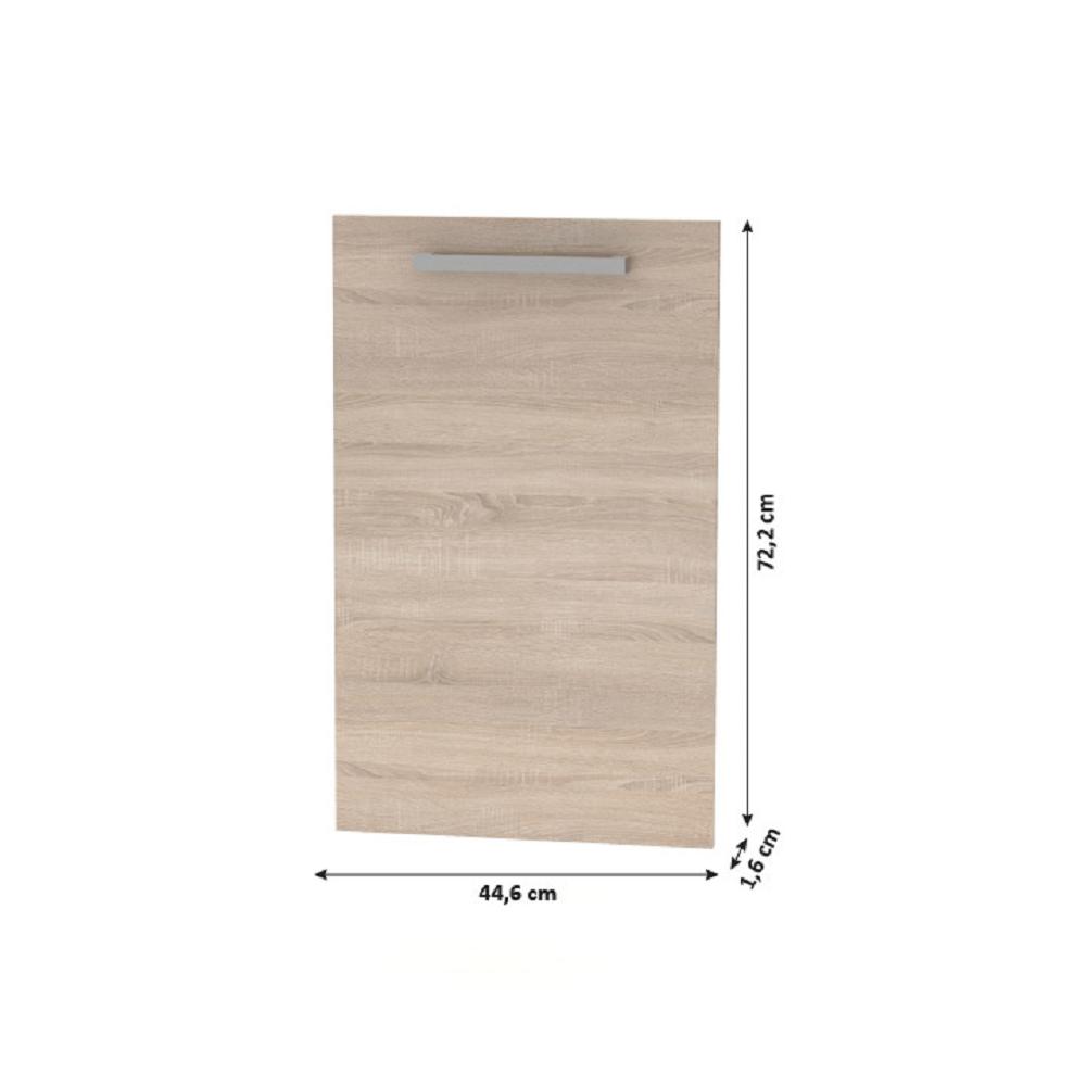 Dvířka na myčku 45, dub sonoma, NOPL-086-00