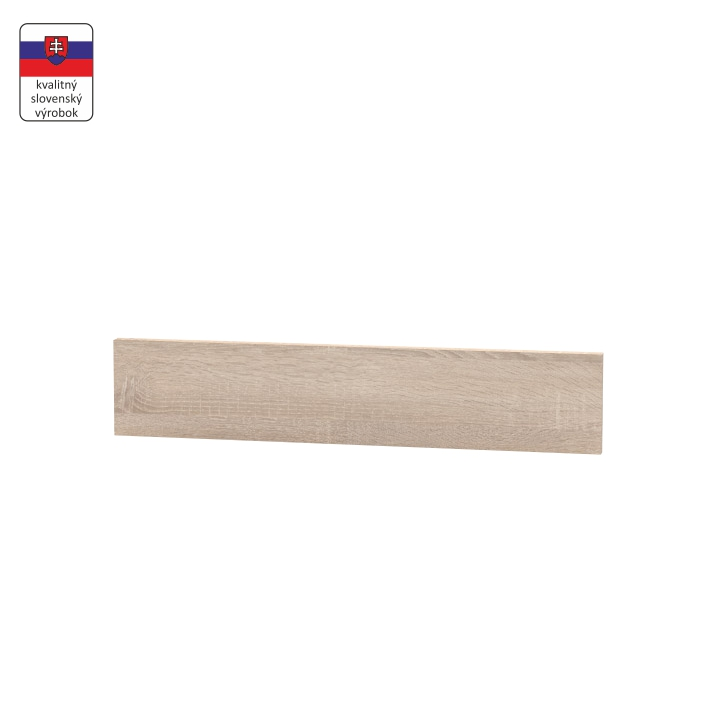 Koncový bočný sokel na nízke skrinky, dub sonoma, NOVA PLUS NOPL-062-00