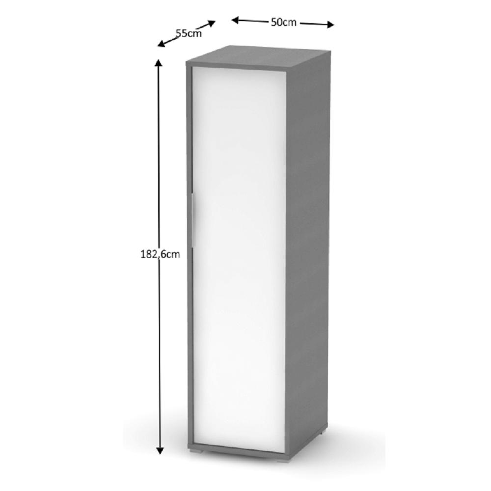 Akasztós szekrény, grafit/fehér, RIOMA TYP 20