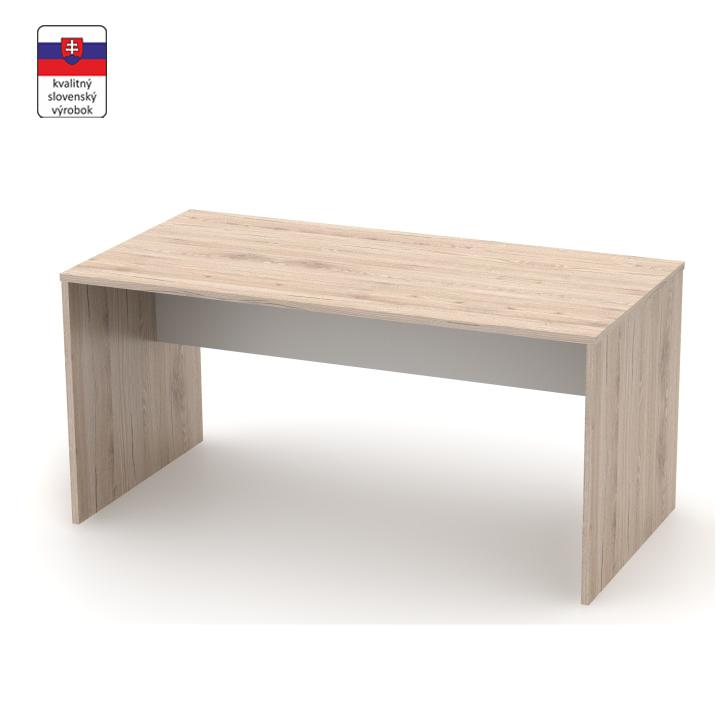 Písací stôl, san remo/biela, RIOMA TYP 16