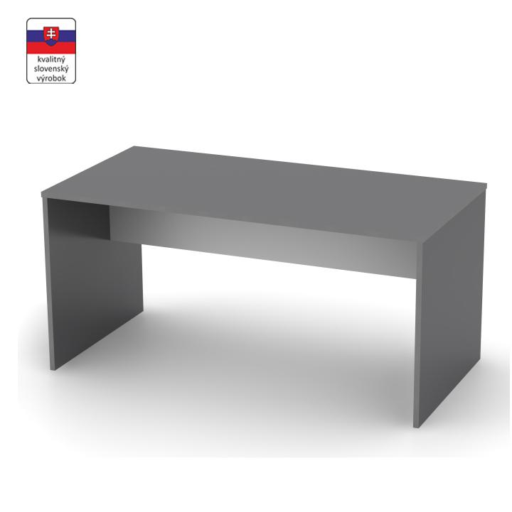 Písací stôl, grafit/biela, RIOMA TYP 16
