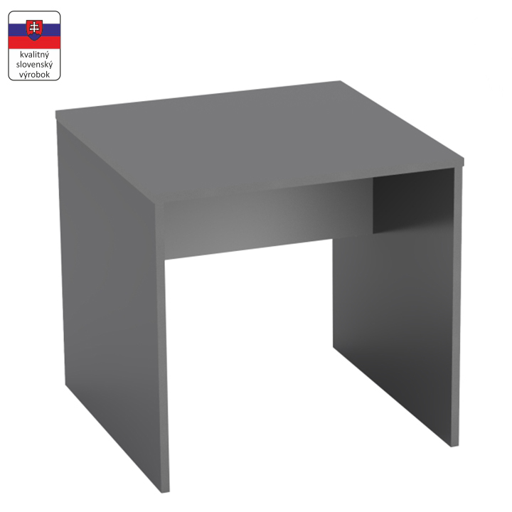 Písací stôl, grafit/biela, RIOMA TYP 17