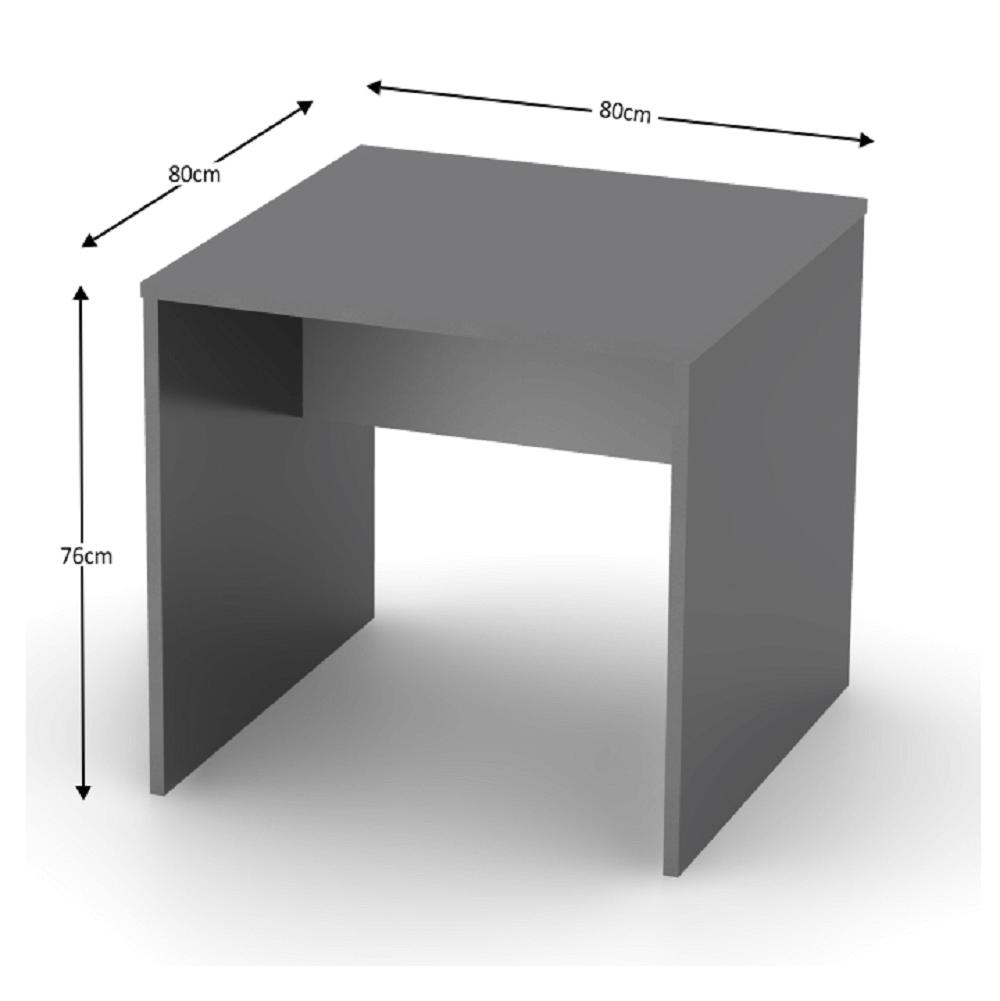 Íróasztal, grafit/fehér, RIOMA TYP 17
