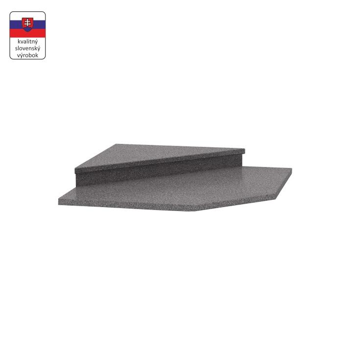 Nadstavec k rohovej skrinke 065, dekor granit antracit, NOVA PLUS