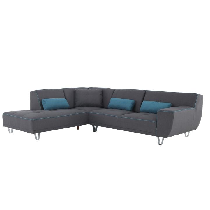 Sarok kanapé, sötét szürke /olaj, bal, DERBA