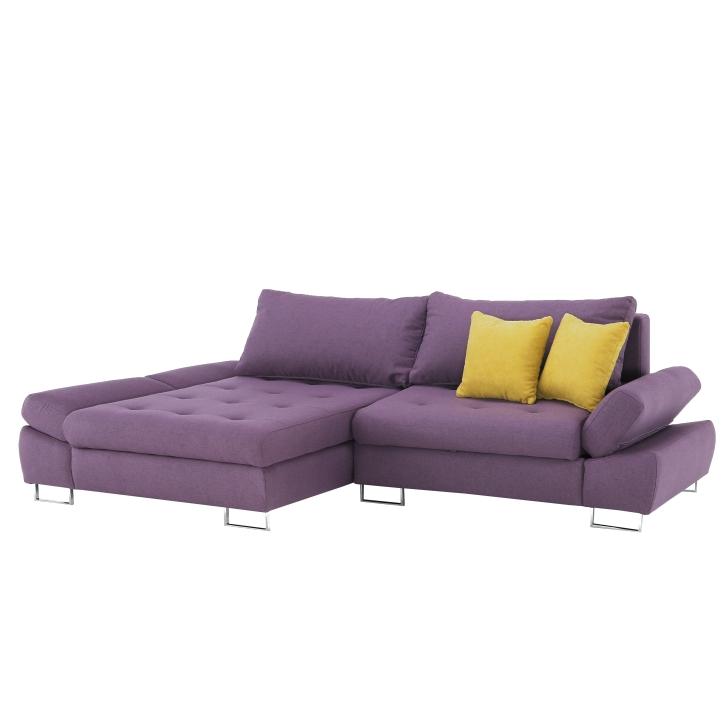 Set canapea, material Orinoco violet / muştar, stânga, GRES