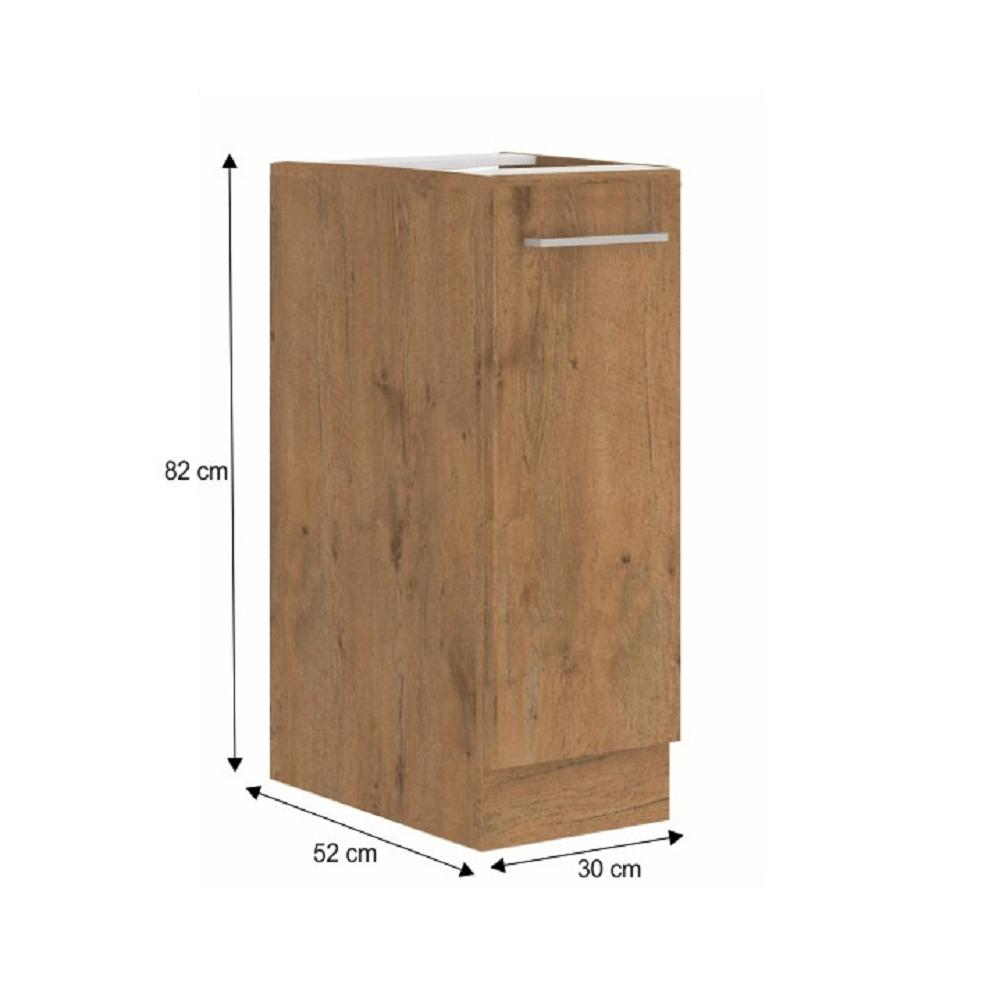 Spodní skříňka s výsuvným košem, dub lancelot, VEGA D30 CARGO BB