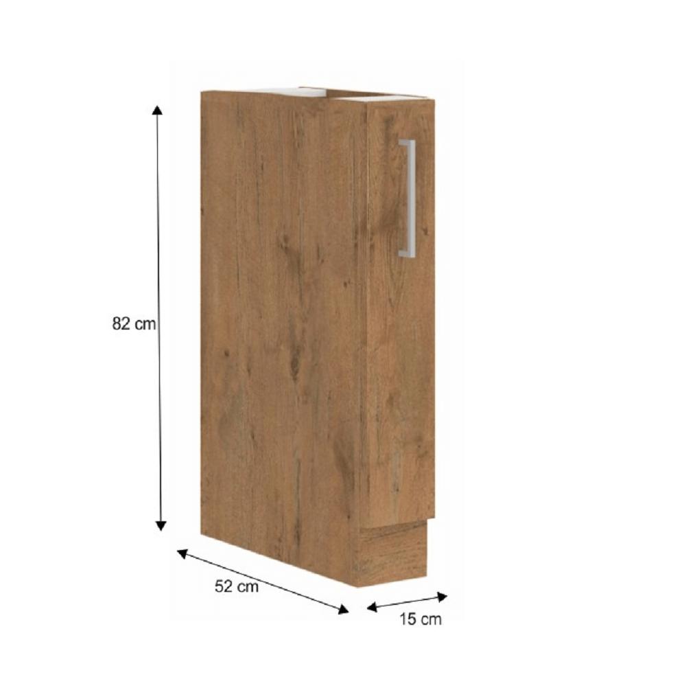 Spodní skříňka s výsuvným košem, dub lancelot, VEGA D15 CARGO BB