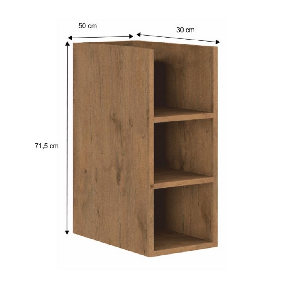 Spodní policová skříňka, dub lancelot, VEGA 30 D OTW BB