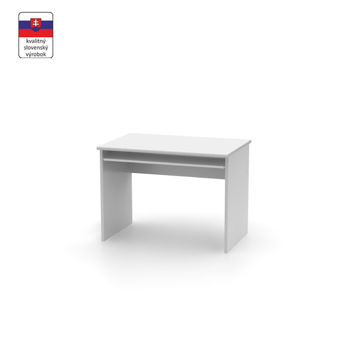 Písací stôl, biela, JOHAN NEW 02