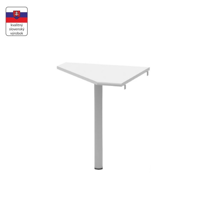 Rohový stolík, biela/kov, JOHAN NEW 06