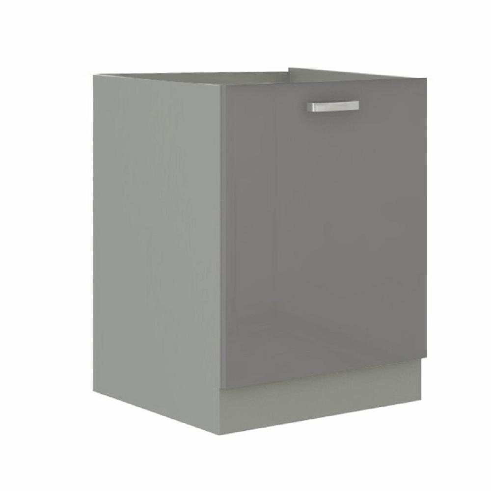 Alsó szekrény, szürke/szürke extra magasfényű, PRADO 60 D 1F ZB