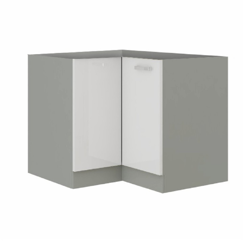 Cabinet inferior, alb extra lucios/gri, PRADO 90/90 DN BB
