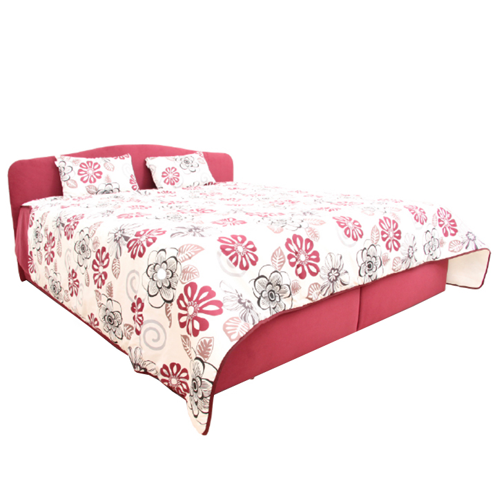 Manželská posteľ, vínovočervená, 180x200, APALO