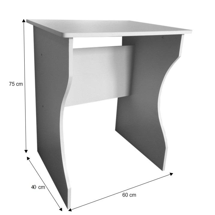 TEMPO KONDELA PC stôl, biela, TORVI - Tempo nábytek