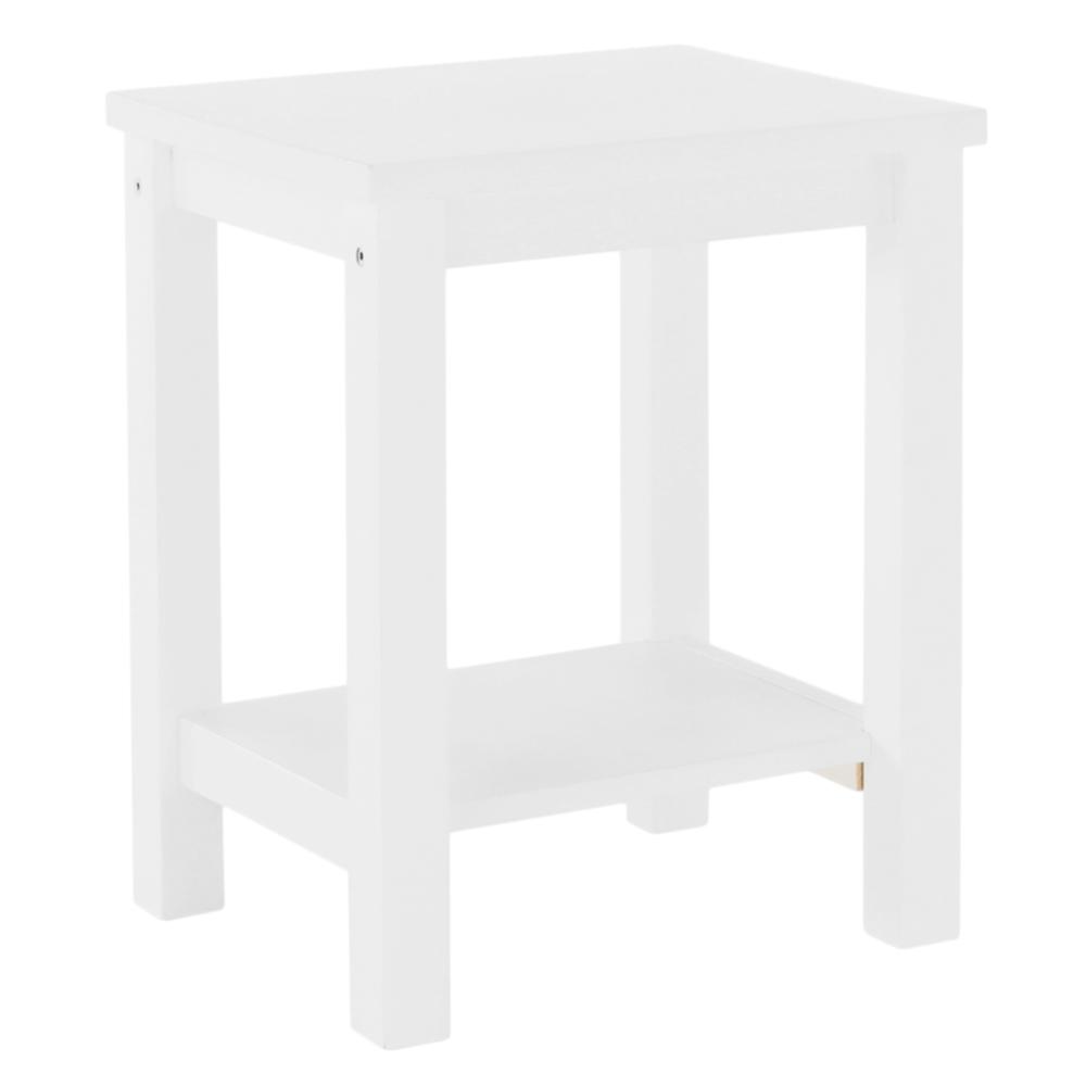 Nočný stolík, masív/biela, FOSIL