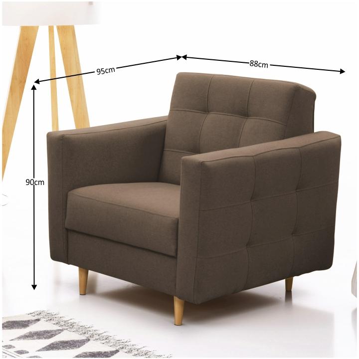 Szövetborítású fotel, barna (csokoládé), AMEDIA