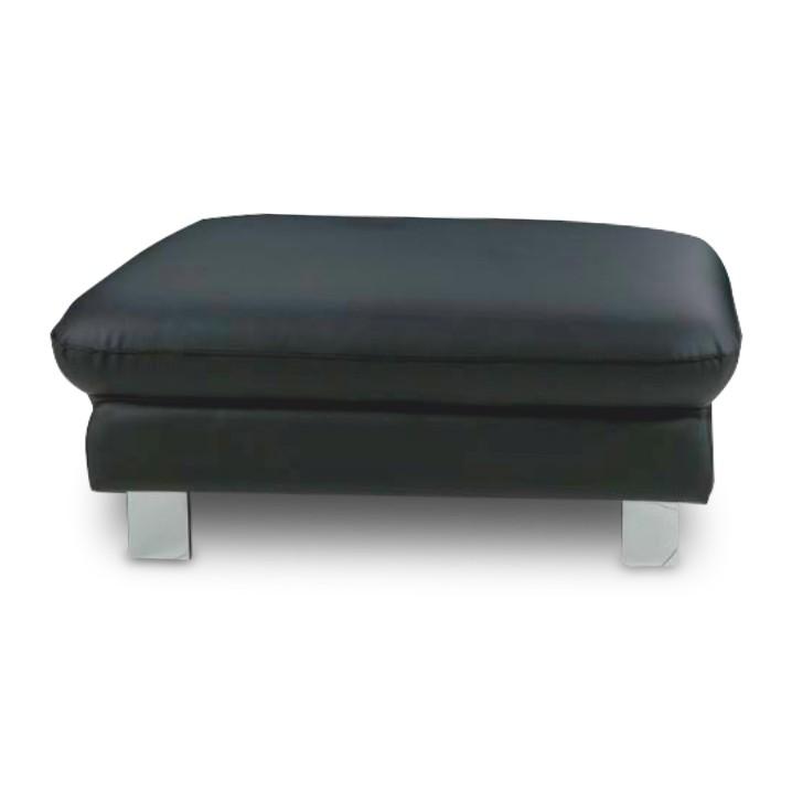 Kožený taburet, na objednávku, koža čierna, RIVER