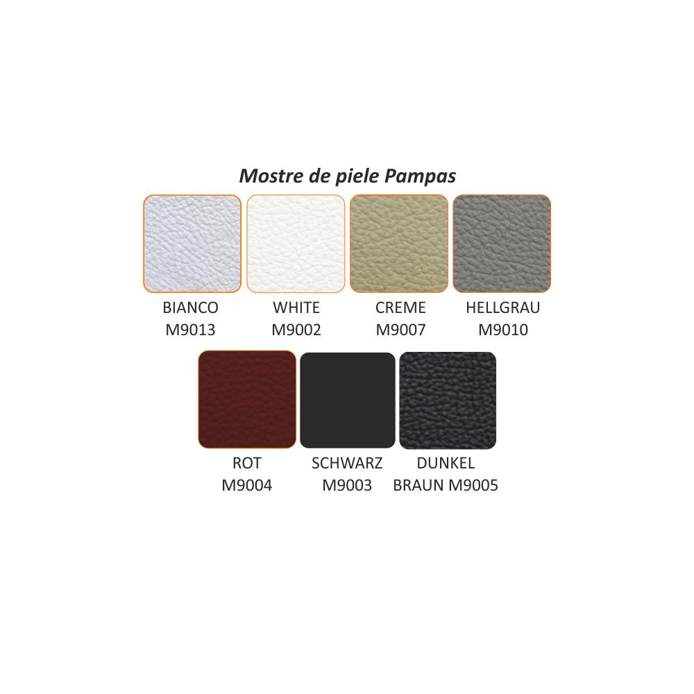 Taburet din piele, la comandă, piele Pampas Amber M9030, LIBERA