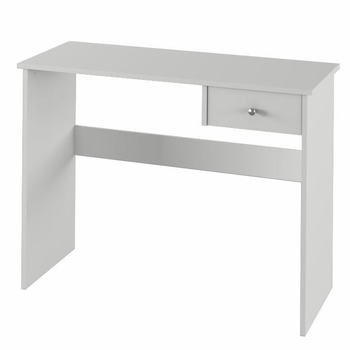 TEMPO KONDELA PC stôl, biela, VASOL - Tempo nábytek