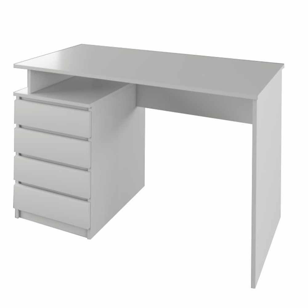 PC stôl, biela, HANY NEW