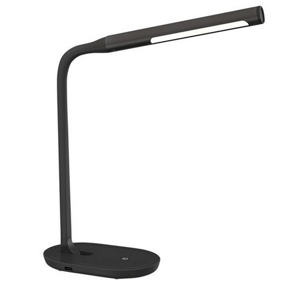 LED lampa s USB zdierkou, čierna, WO50-B