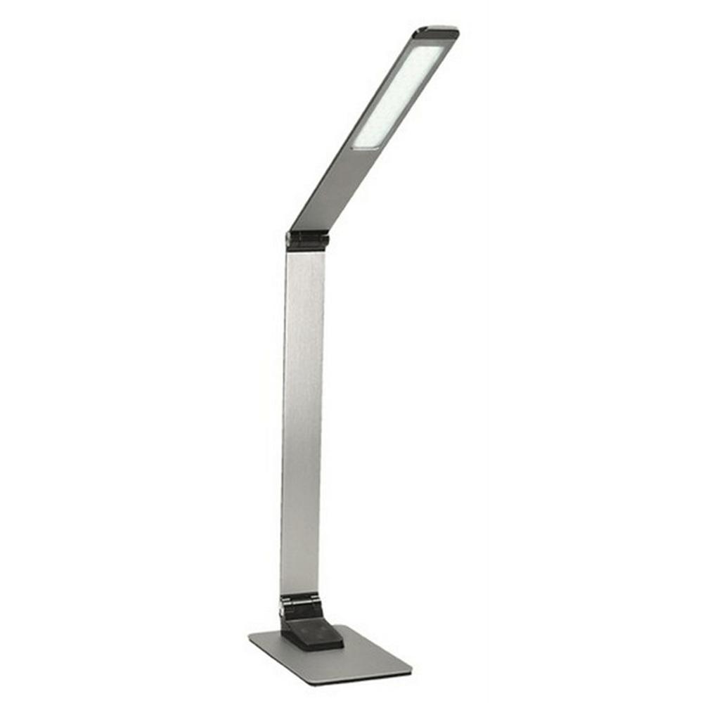 LED lampa s USB zdierkou, strieborná, WO51-S