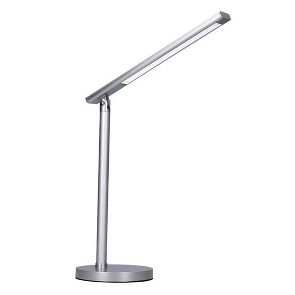LED lampa de masă Wo53-s, gri deschis, aluminiu