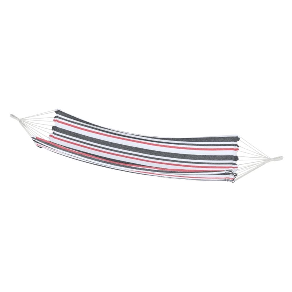 Hamac, negru/alb/roşu/model dungi, HAVANA - single