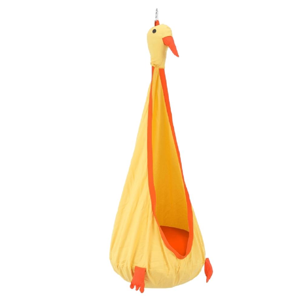 Scaun suspendabil, galben/portocaliu, TOLO