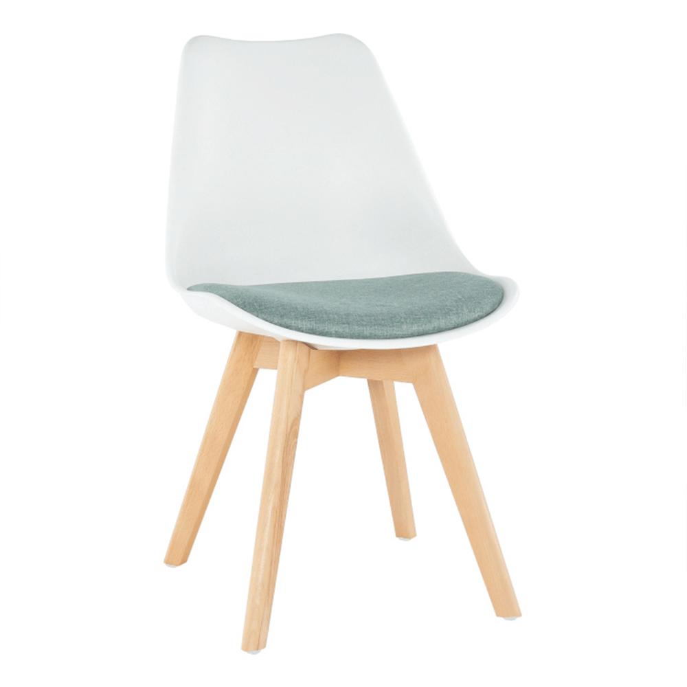 Stolička, biela/zelená, DAMARA