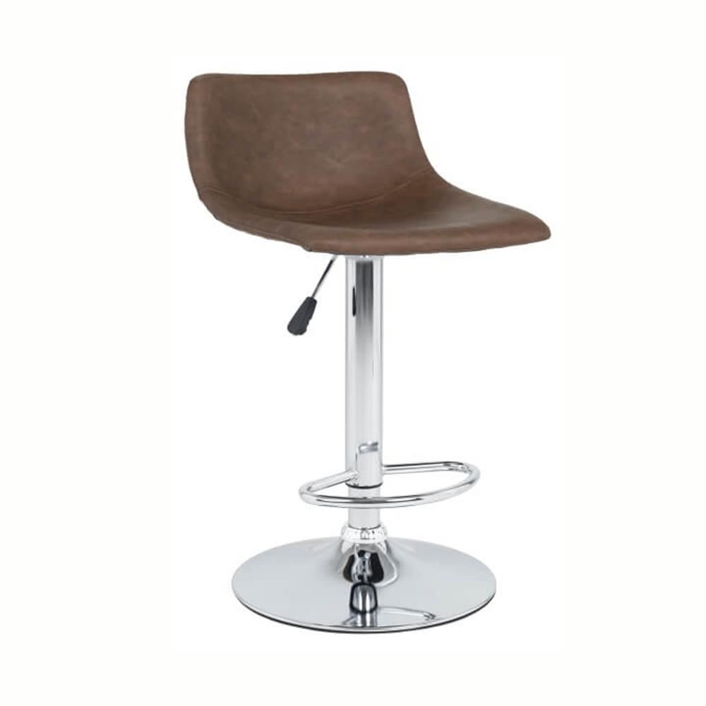 Barová stolička, tmavohnedá/chróm, EBRO