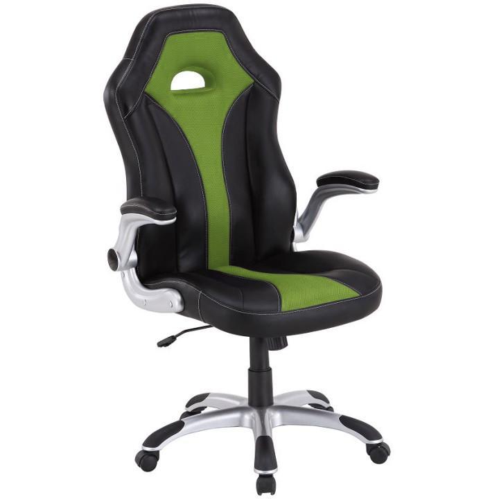 Kancelárska stolička, čierna/zelená, IZAR