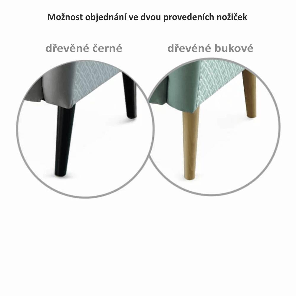 Designové křeslo, látka, capuccino / vzor, BELEK