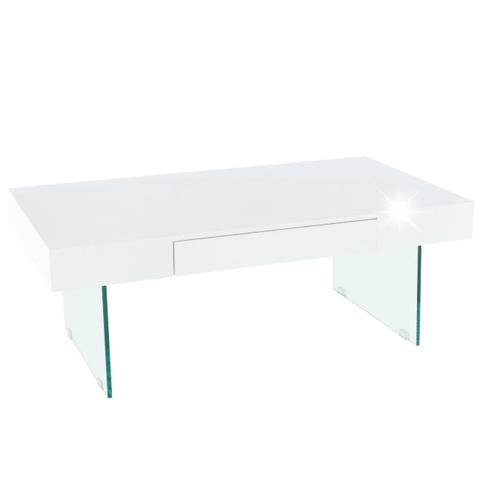 Konferenčný stolík, biely extra vysoký lesk, DAISY 2 NEW