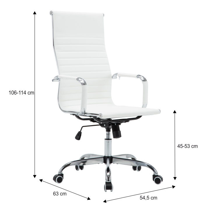 TEMPO KONDELA Kancelárske kreslo, biela, AZURE 2 NEW - Tempo nábytek