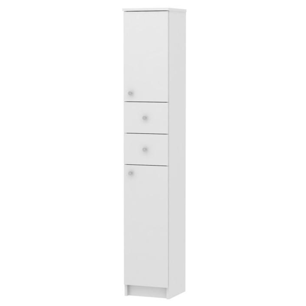 Magas fürdőszobai szekrény, fehér, GALENA SI13