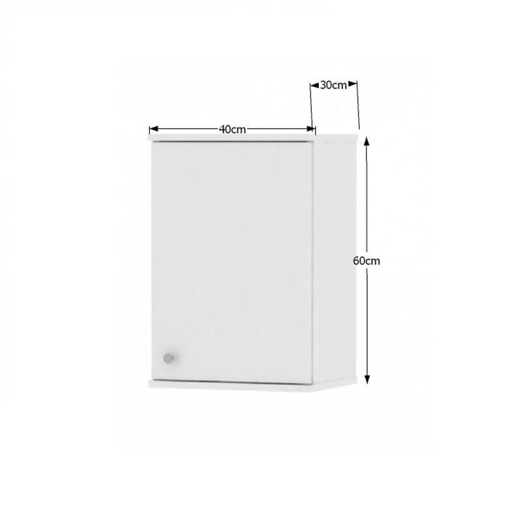 Horní závěsná skříňka, bílá, GALENA SI10, TEMPO KONDELA