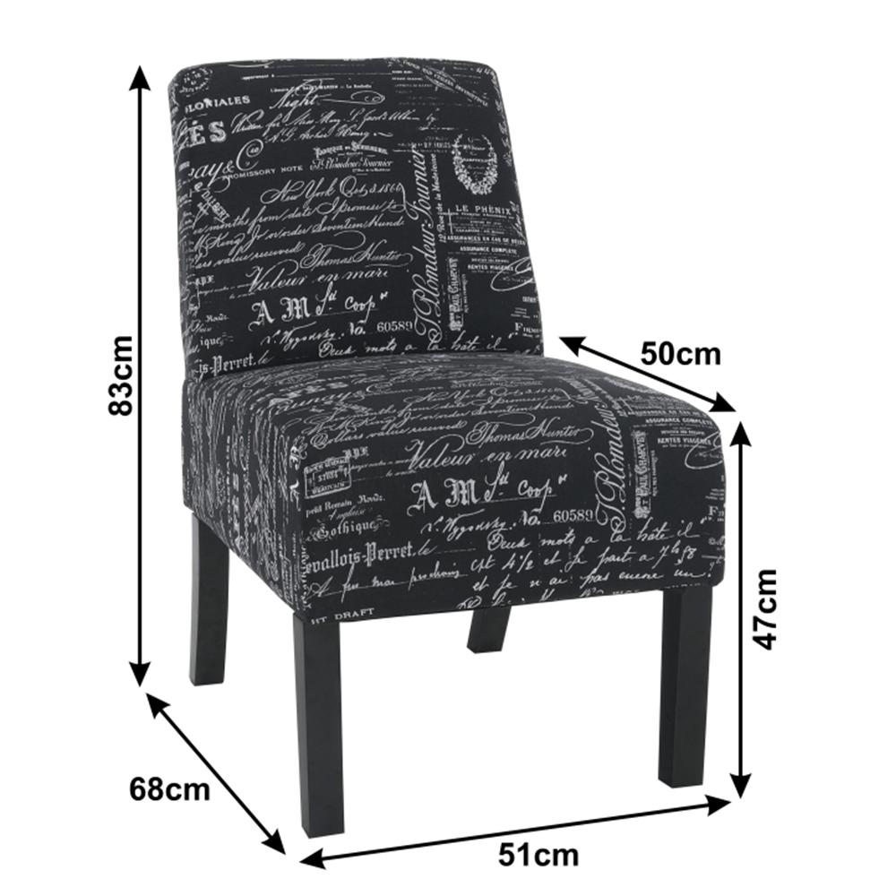 Křeslo, černobílá vzorovaná/černá, HEROLA