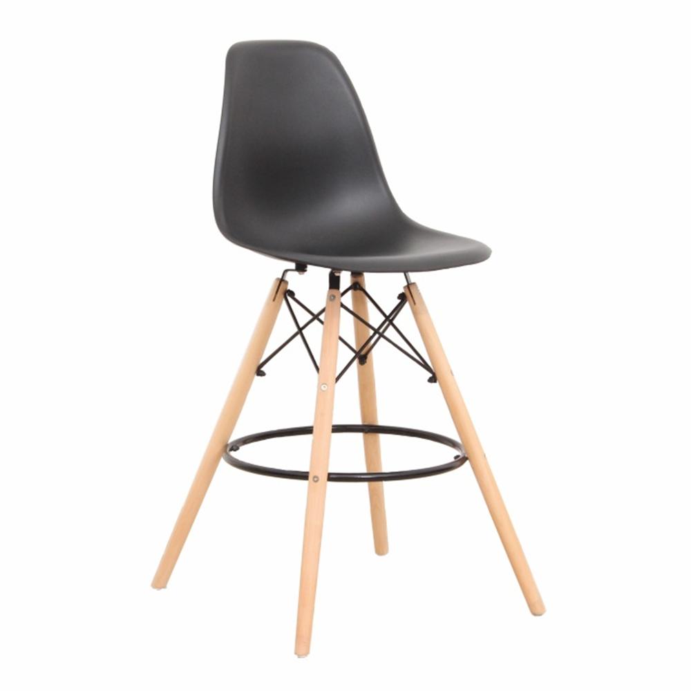 Barová stolička, čierna/buk, CARBRY NEW