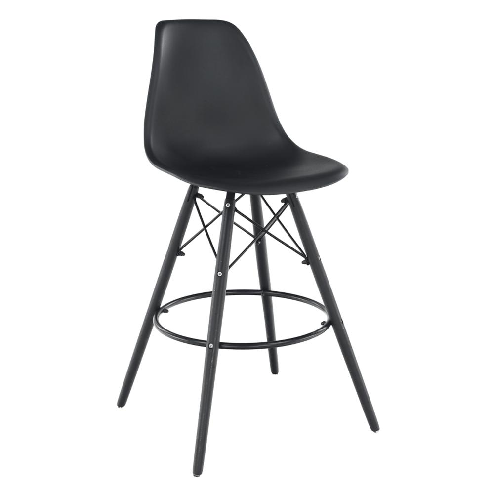 Barová stolička, čierna, CARBRY NEW