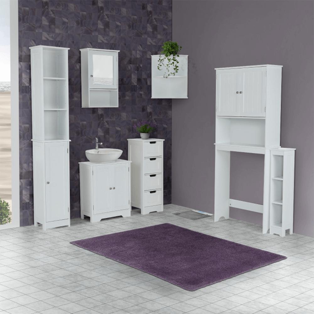 Skříňka nad WC, bílá, ATENE TYP 5