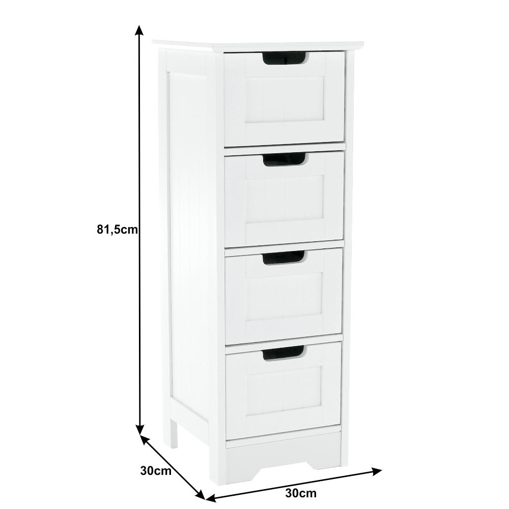 4-šuplíková komoda, bílá, ATENE TYP 7