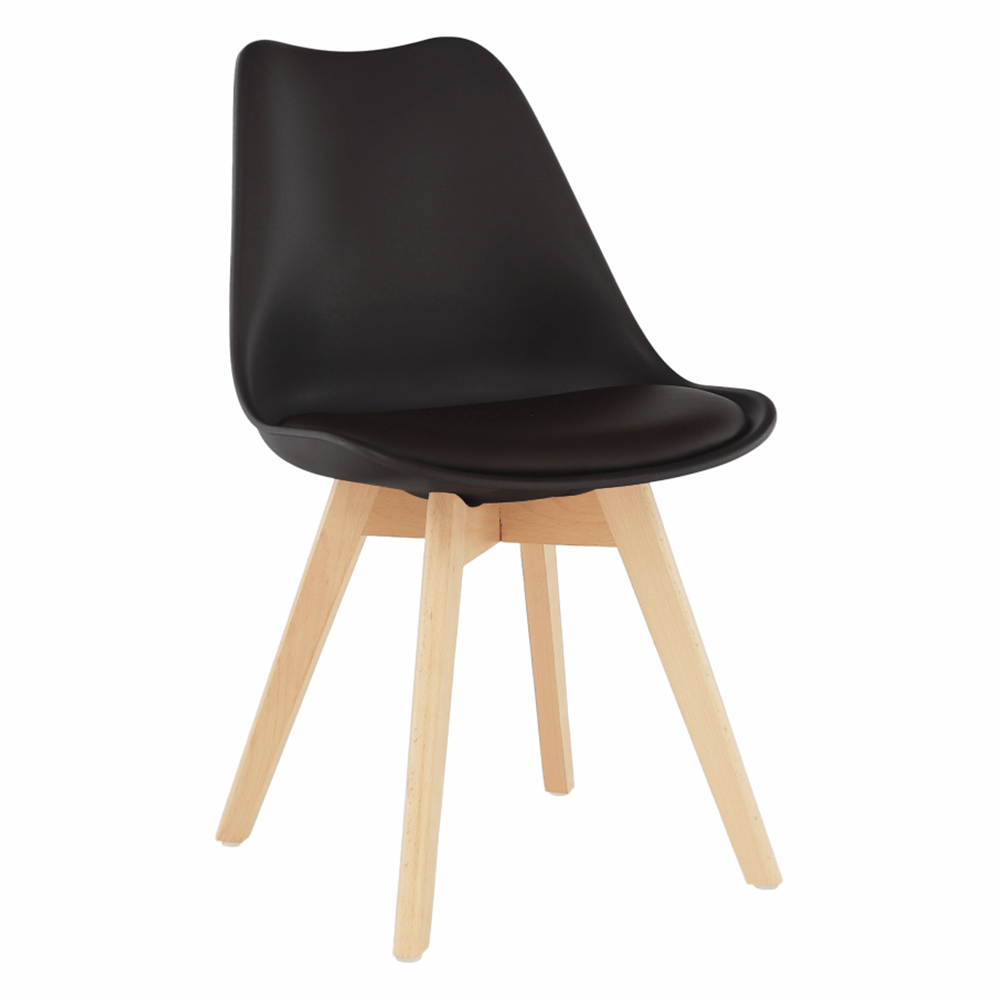 Židle, tmavohnědá/buk, BALI 2 NEW