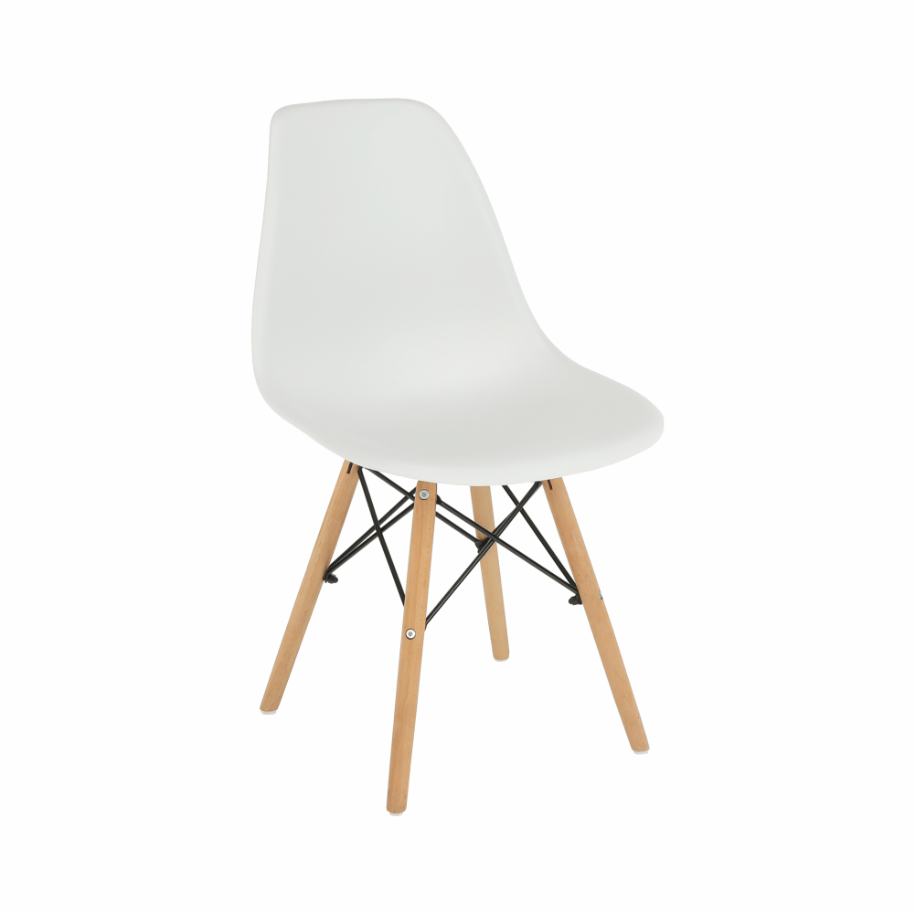 Stolička, biela/buk, CINKLA 3 NEW