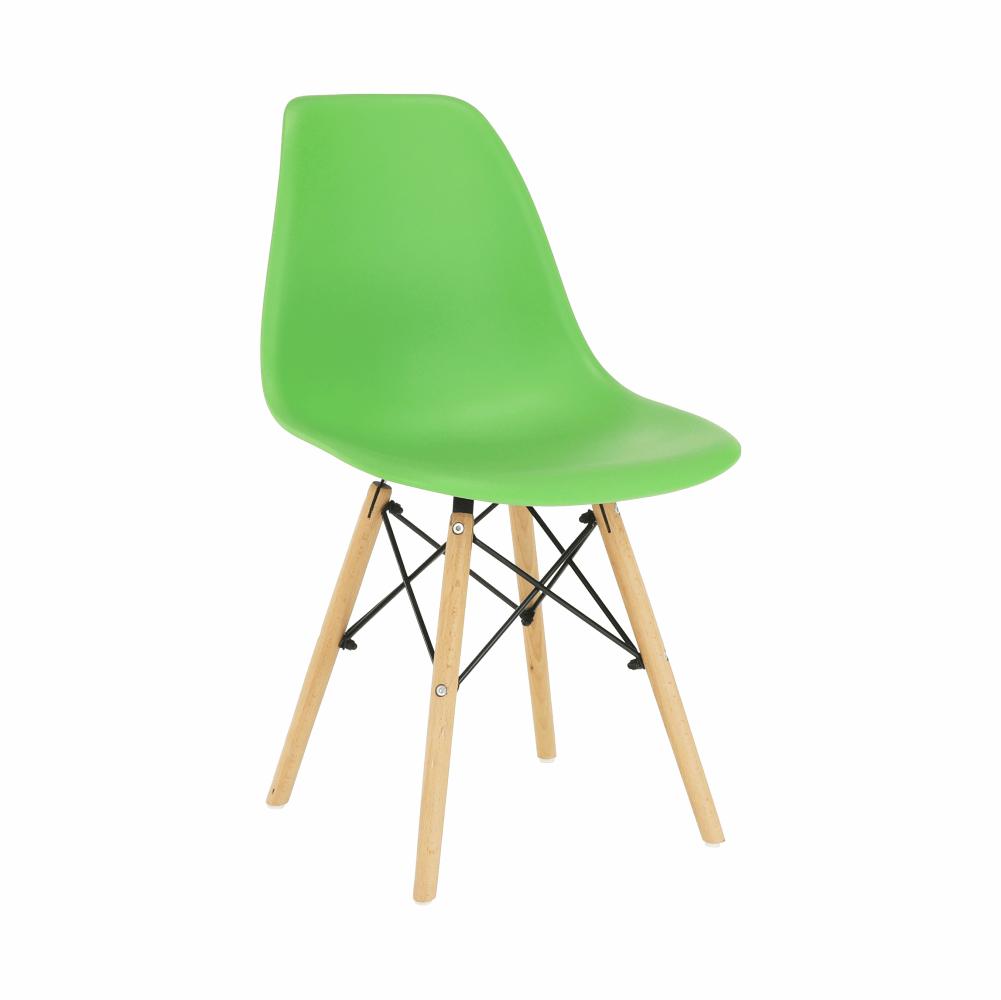 Stolička, zelená/buk, CINKLA 3 NEW