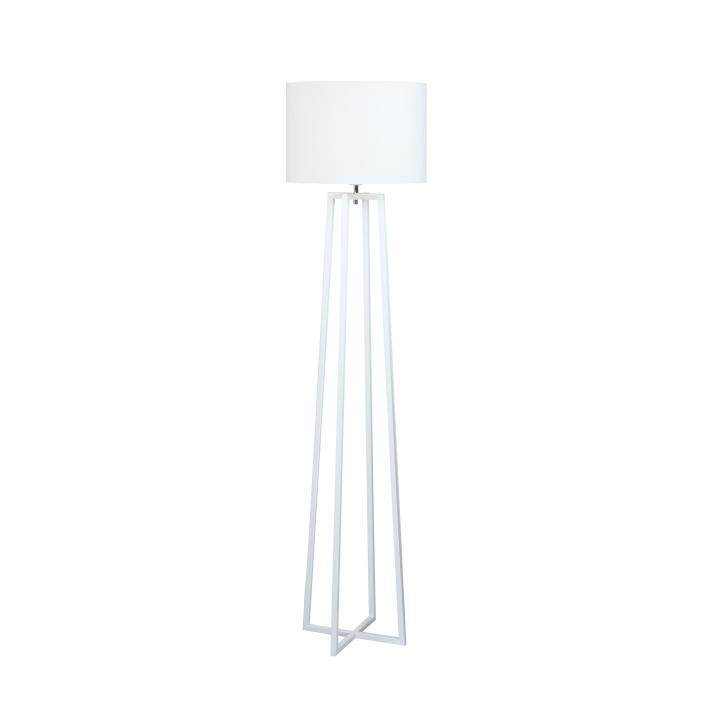 Stojací lampa, bílá, QENNY TYP 16
