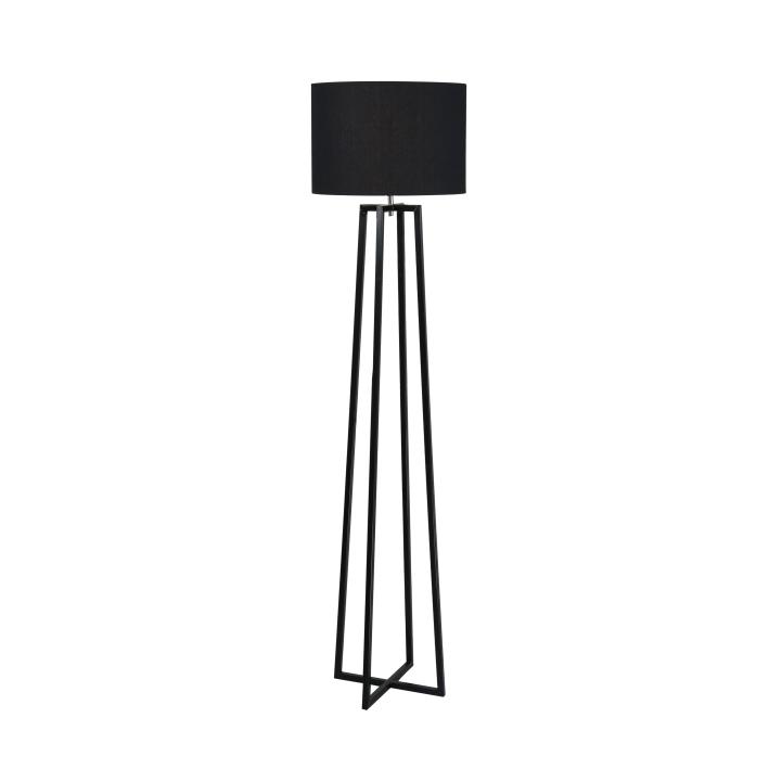 Stojací lampa, černá, QENNY TYP 17