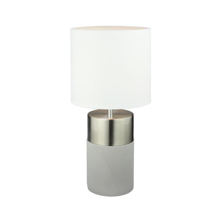 Stolná lampa, svetlosivá/biela, QENNY TYP 19