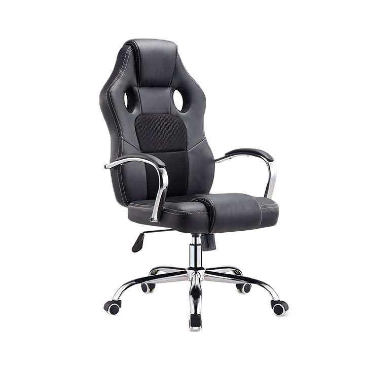 Kancelárske kreslo, čierna/chróm, LISTEN